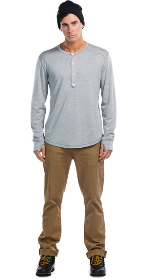 Mons Royale M's 1961 Henley LS Grey Marl